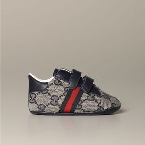 Gucci Baby's Leather & Canvas Sneakers